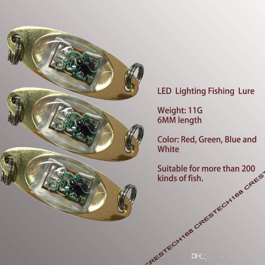 Leurres de pêche à LED Deep Sea Underwater LED de pêche Clignotants Calmars Jigs Seiches Leurres de Pêche