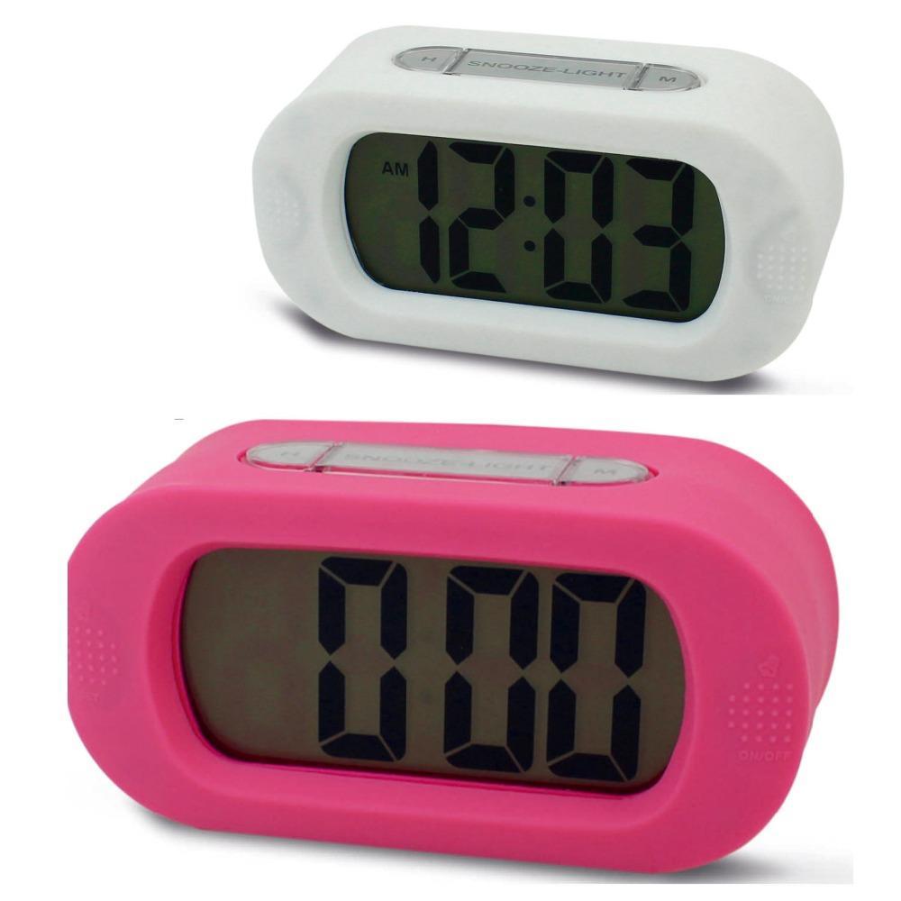 d07fc757a Acheter Les Horloges Silencieuses Silencieuses De Bureau D alarme De  Silicium