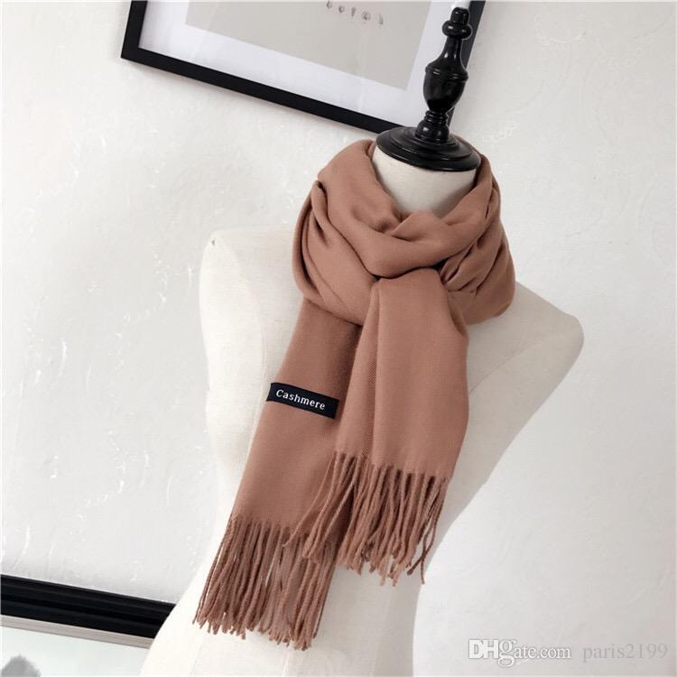 Vendite calde Moda sciarpa invernale in lana Pashmina Sciarpe cashmere poncho Sciarpa Donna uomo Luxury Sciarpe classiche