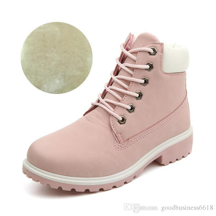 ef8d337341 Compre 2018 Nuevo Diseño Otoño Invierno Mujeres Botines Nueva Moda Mujer  Botas De Nieve Para Niñas Señoras Zapatos De Trabajo Más El Tamaño 36 41  Botas De ...