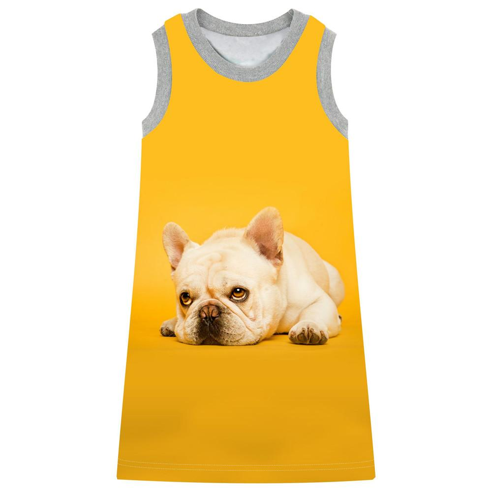 Girls Dresses Children Kids Clothes Girl clothing Casual new Fashion Kids Baby girl dress Beautiful The nice dog printed