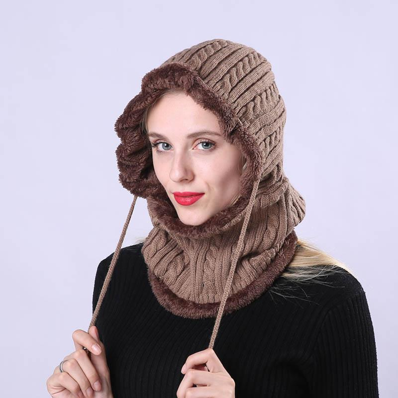 8fd50e9d9d5 Women Men Knitting Cap Hat Neck Ear Warm Elasticity Windproof For ...