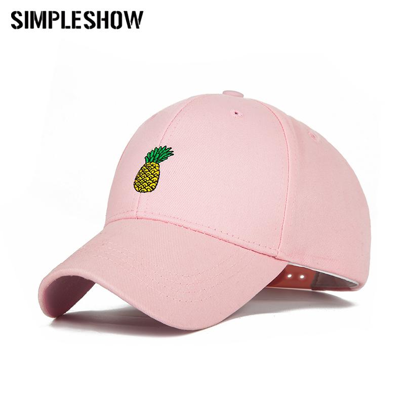 ac6a9972652af SIMPLESHOW New Pineapple Baseball Cap Unisex Embroidery Snapback Hat ...
