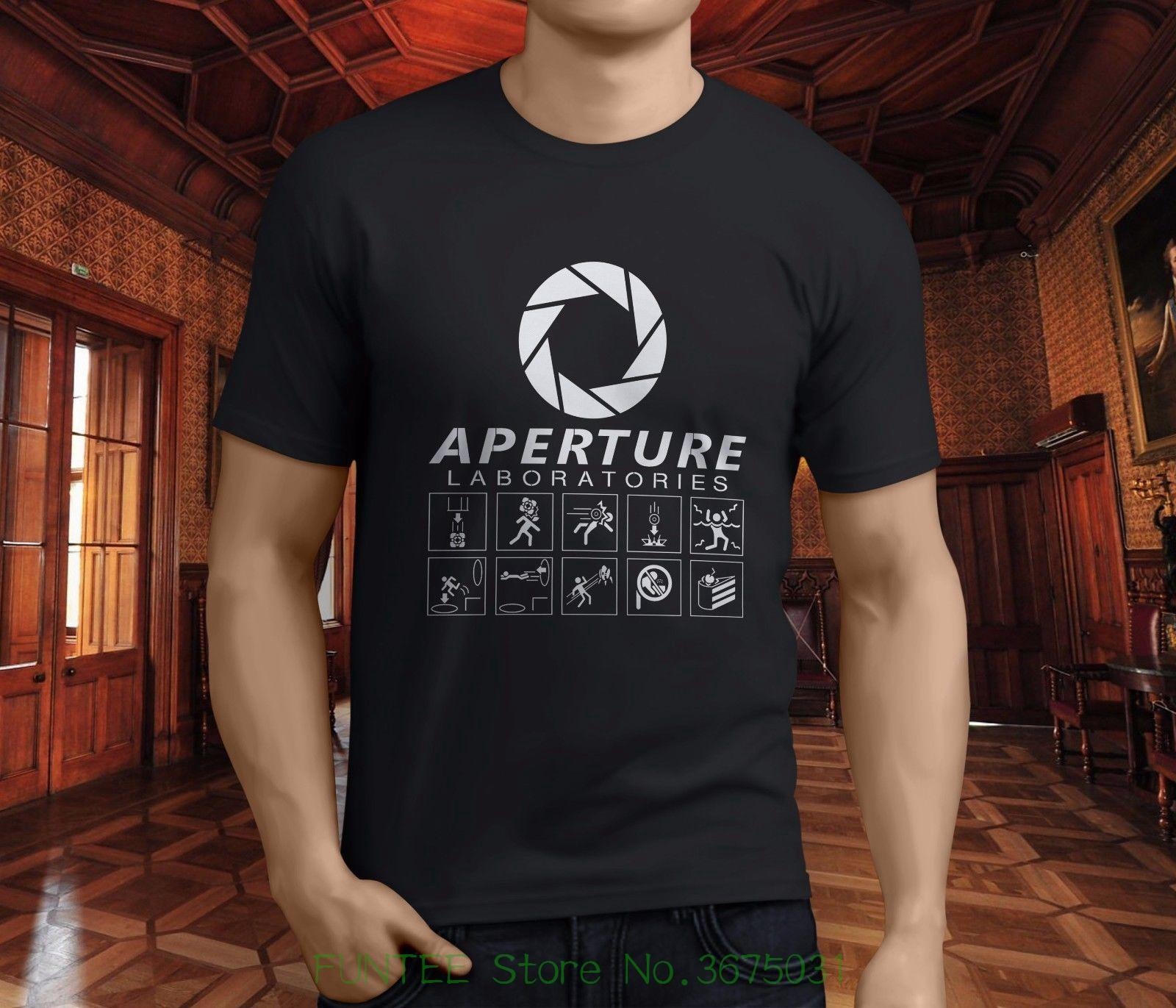 3d560c632 Tee Shirts Hipster O Neck New Portal 2 Aperture Science Laboratories Video  Men'S Black T Shirt S 3xl Funky T Shirts For Women T Shirt Purchase From ...