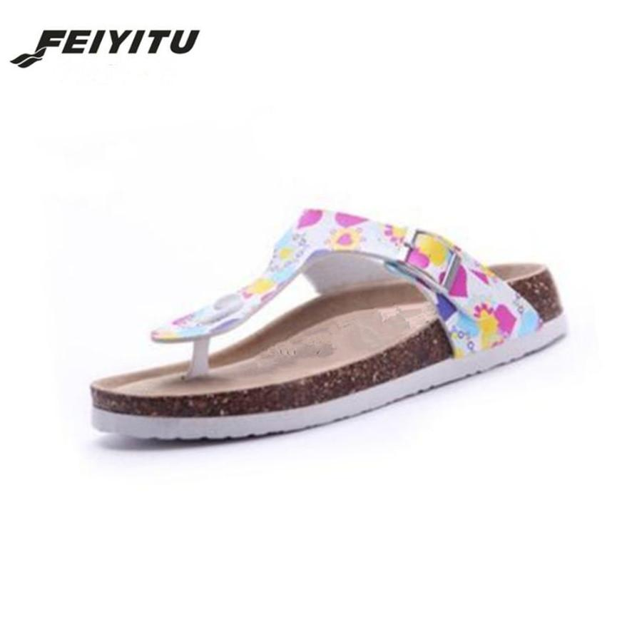 6d97d049d8dcf FeiYiTu New Beach Cork Flip Flops Slipper 2018 Casual Summer Mixed Color  Outdoors Valentine Sandals Flat Shoe Plus Size 35 45 Prom Shoes Silver Shoes  From ...