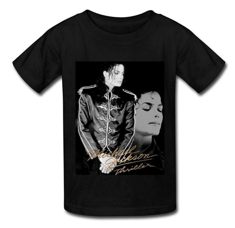 Fashion KidS Michael Jackson Poster T Shirt For Kids Black Print Plus Size Brand Tee Shirts From Oceancloth