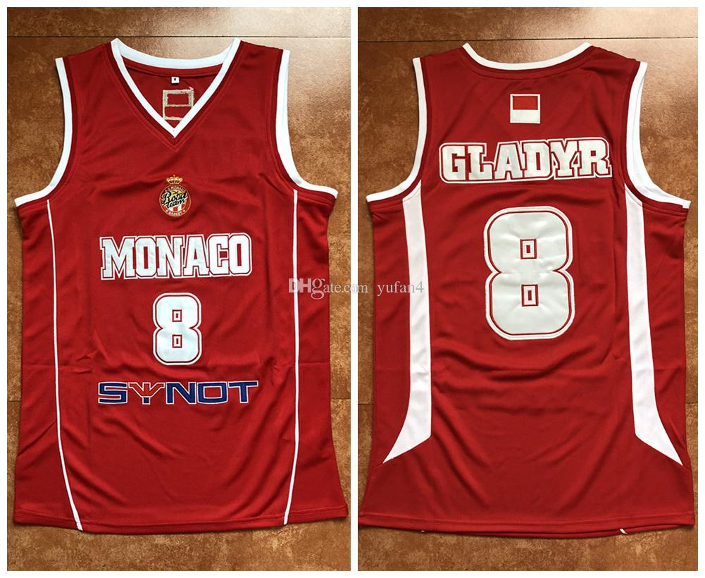 b530b3fb9d8 2019 #8 Sergiy Gladyr Monaco 2016/17 FIBA Retro Classics Basketball Jersey  Mens Stitched Custom Number And Name Jerseys From Yufan4, $31.47 |  DHgate.Com