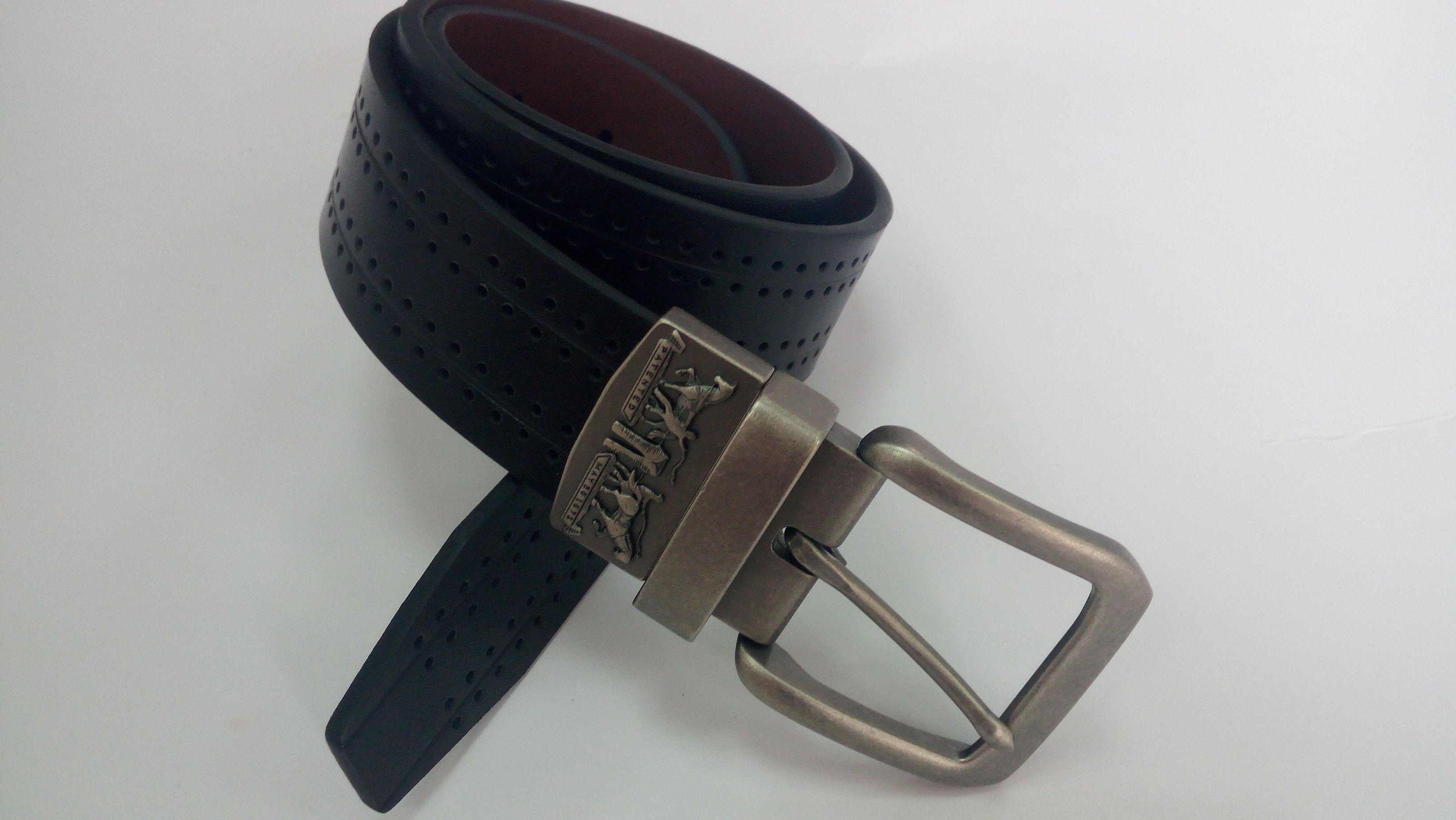 Men/'s Reversibe Belt Black Brown Belt 2 in 1 Belt