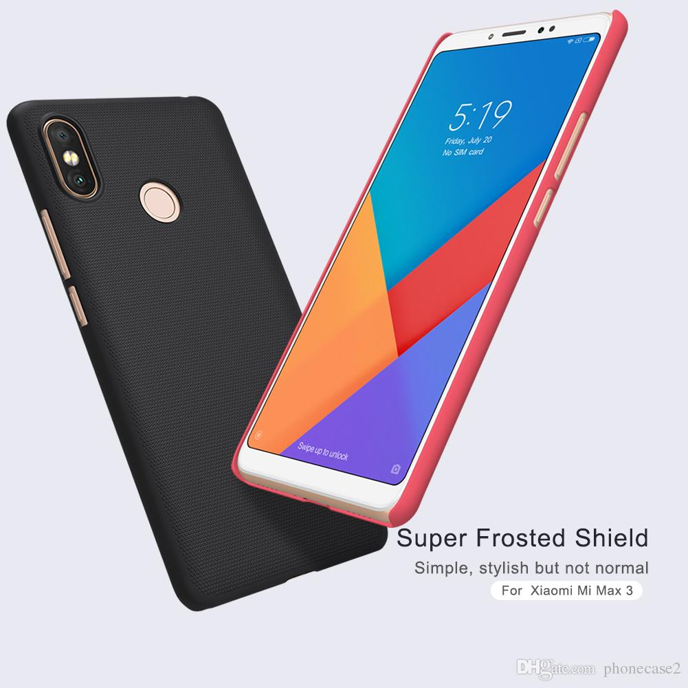 watch 005c3 e0ec9 NILLKIN case for xiaomi mi max 3 cover for xiaomi mi max 3 max3 Super  Frosted Shield hard case with Retail package