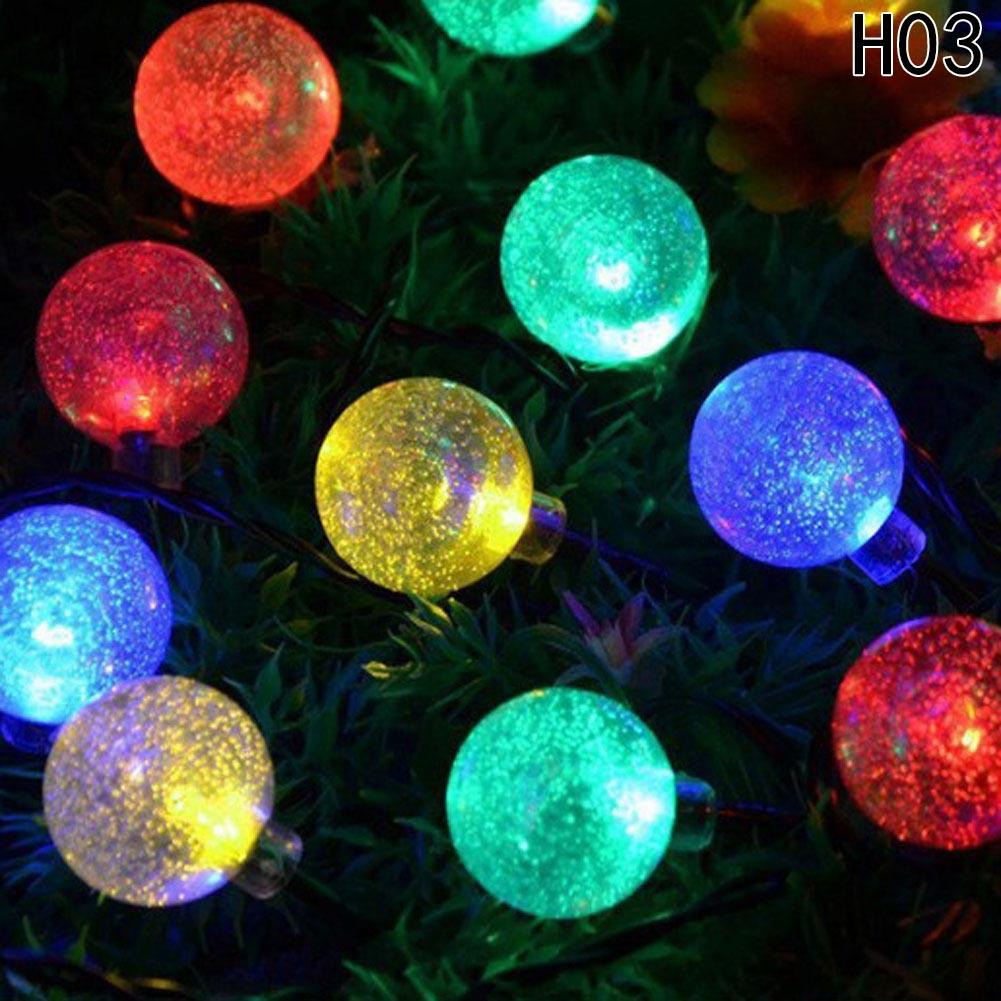 solar powered christmas tree decor waterproof 6m 30 leds crystal bubble ball light wedding new year holiday fairy lamp string house christmas decorations