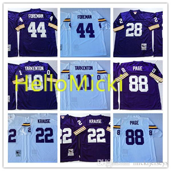 2019 Mens  10 Fran Tarkenton Vintage Football Jersey Stitched  22 Paul  Krause  28 Ahmad Rashad  44 Chuck Foreman  88 Alan Page Jersey M 3XL From  ... ed9b47cf9