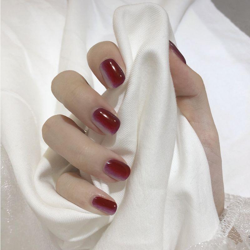 Grosshandel 24 Teile Satz Elegante Rot Lila Farbverlauf Falsche