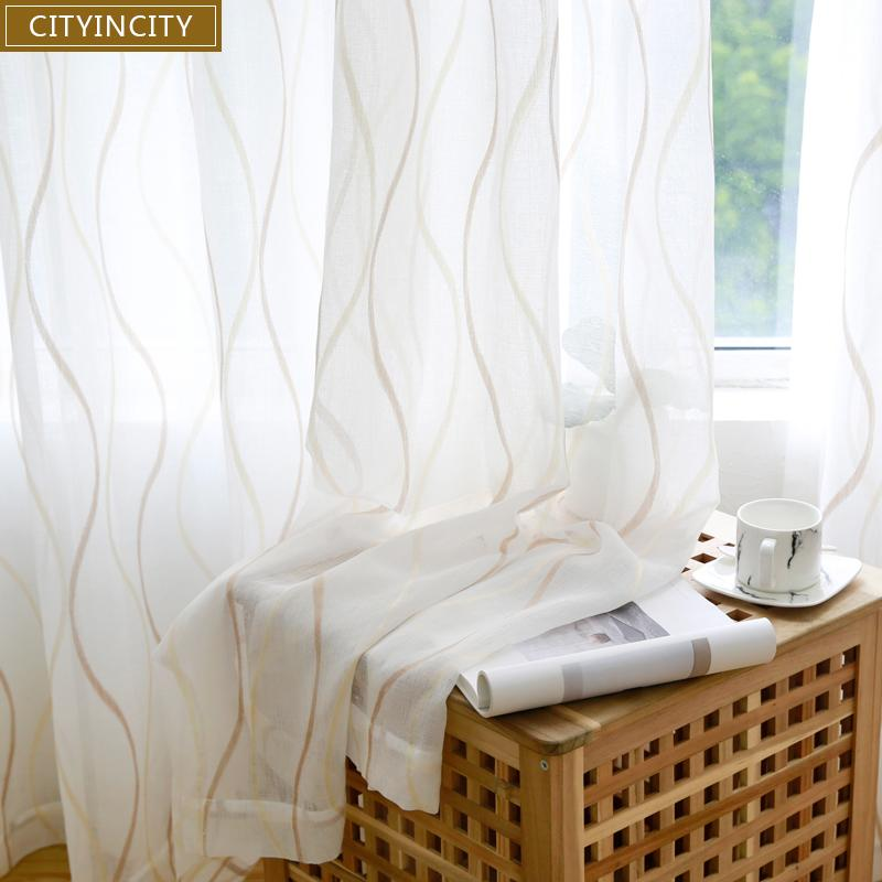 Acquista CITYINCITY JAQ Tulle Waved Tende Soggiorno Voile Sheer 3d ...