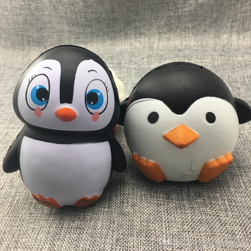 Squishy Slow Rebound Jumbo Toy Bun Juguetes Pingüino Animales Kawaii Soft Squishies Apretar Cute Cell Phone Strap Toys Niños Regalo de bebé