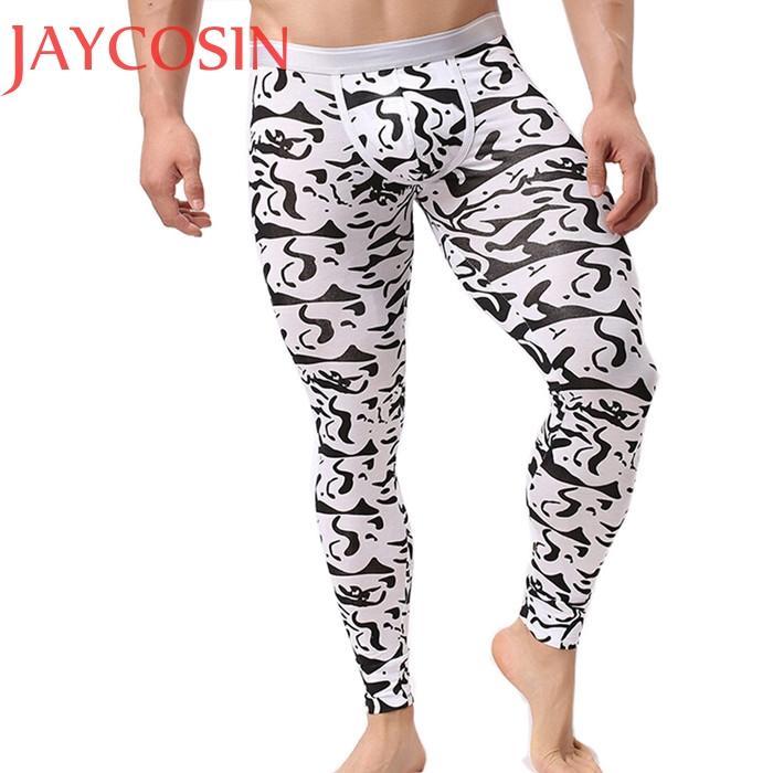 dbf3475d99dcb Acheter Hommes Automne Hiver Thermique Culotte Mâle Doux Chaud Thermique  Maigre Long Johns Garçon Leggings Sous Vêtements Pantalon Pantalon Pyjamas  Dec3 De ...