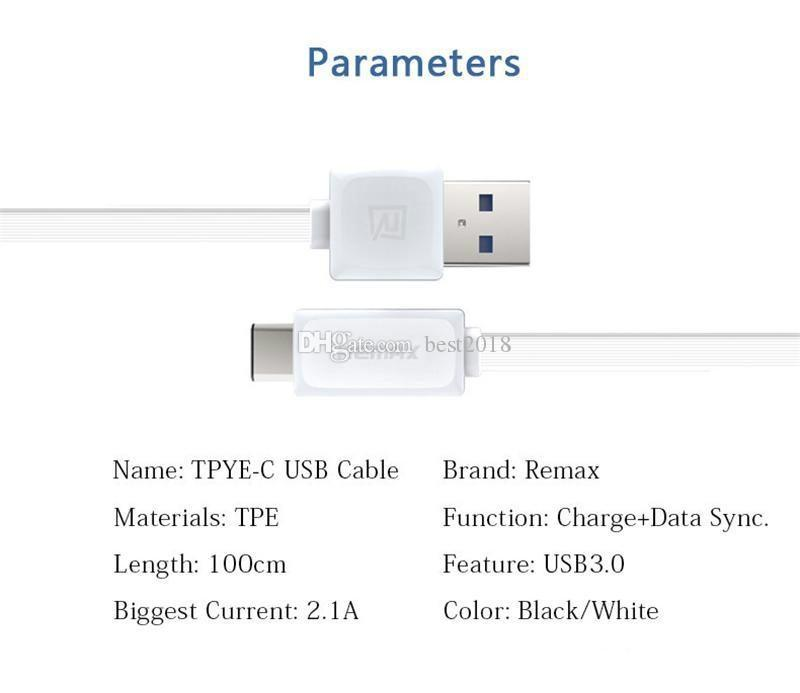 Type C Remax Type-C Micro USB Data Cable OnePlus Two USB 3.0 Output 2.1A Sync Fast Charging Data Cable Not Original dhl