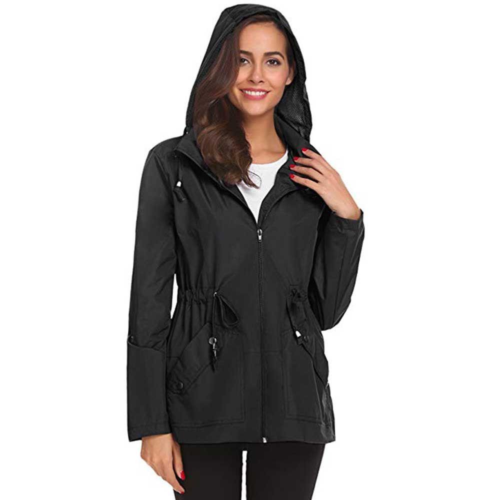 14e7e835a956e4 Outdoor Raincoat Waterproof Hiking Jacket Windproof Rain Jacket Trekking Lightweight  Jackets Women Hooded Overcoat Autumn Women Jacket Ladies Jacket From ...