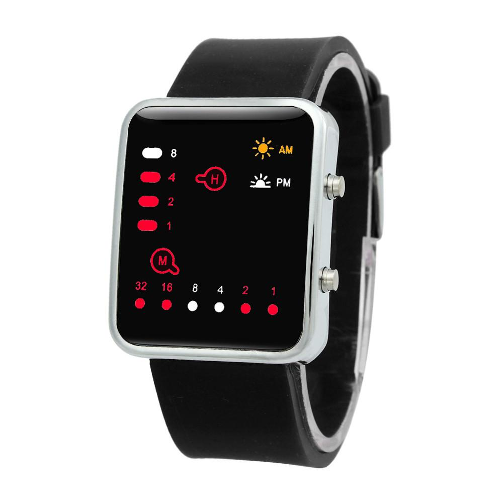 Compre Mujeres Hombres 2018 Digital Rojo LED Reloj Deportivo Reloj De  Pulsera Binario Reloj Deportivo De Silicona Relojes Para Hombres Relojes  Para Hombres ... 96dc99482cfd