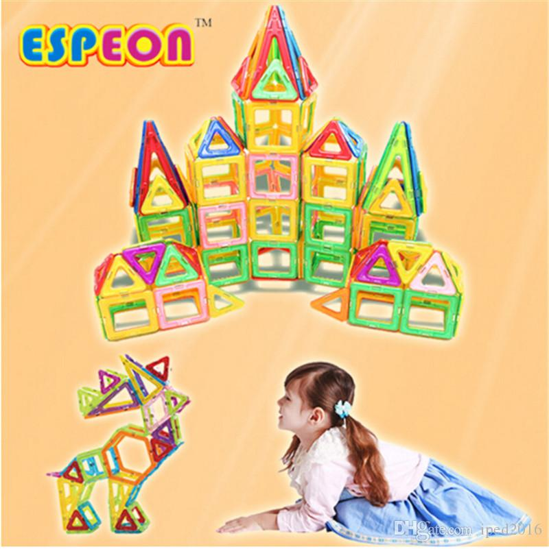 Mini Magnetic Designer Building Blocks Kids Models Building Toys Technic Plastic DIY Enlighten Bricks Children Magnet Game