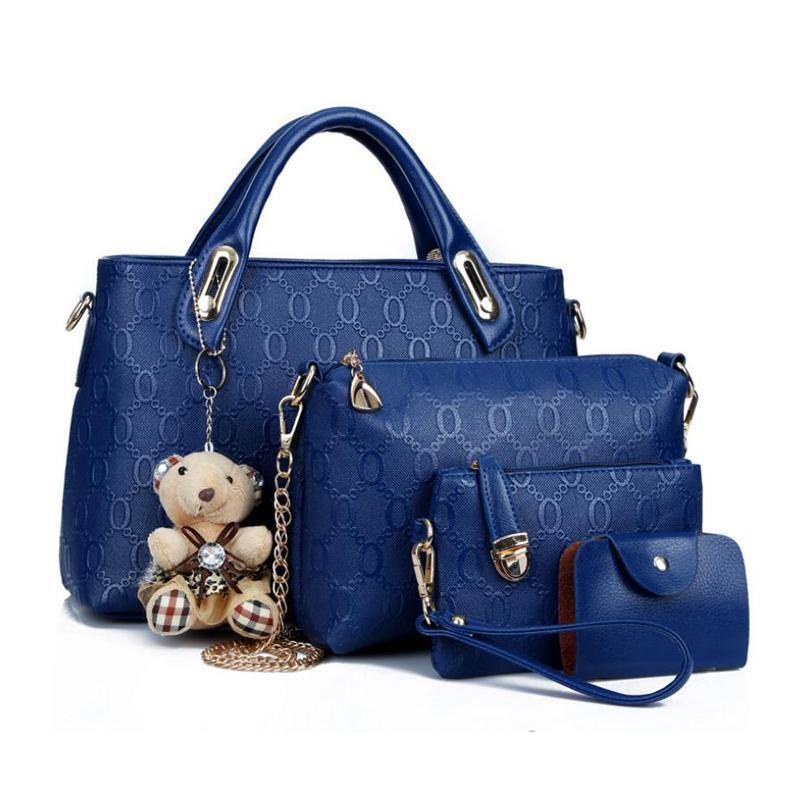 10df99231 Compre De Alta Qualidade Importado Tecido PU Couro Crossbody Bag Set Top  Handle Grande Capacidade Feminina Bolsa De Moda Bolsa De Ombro Bolsa  Senhoras De ...