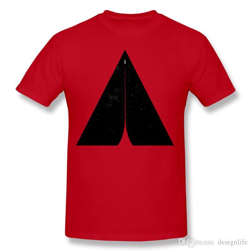 Venda quente Hombre 100% Algodão Blast Off T camisas Hombre O-pescoço Branco Shorts Manga Slim Fit camiseta tamanho Grande Lazer Camisetas