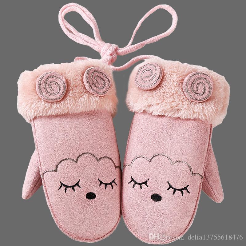 09144113085c New Children S Mittens Winter Wool Baby Knitted Gloves Children Warm ...