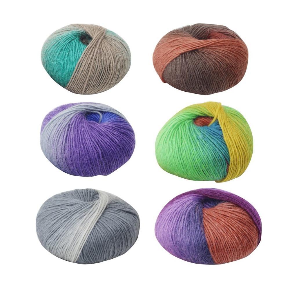 Großhandel 6 Farben 1 Rolle Weiche Wolle Häkeln Baby Garn Baby