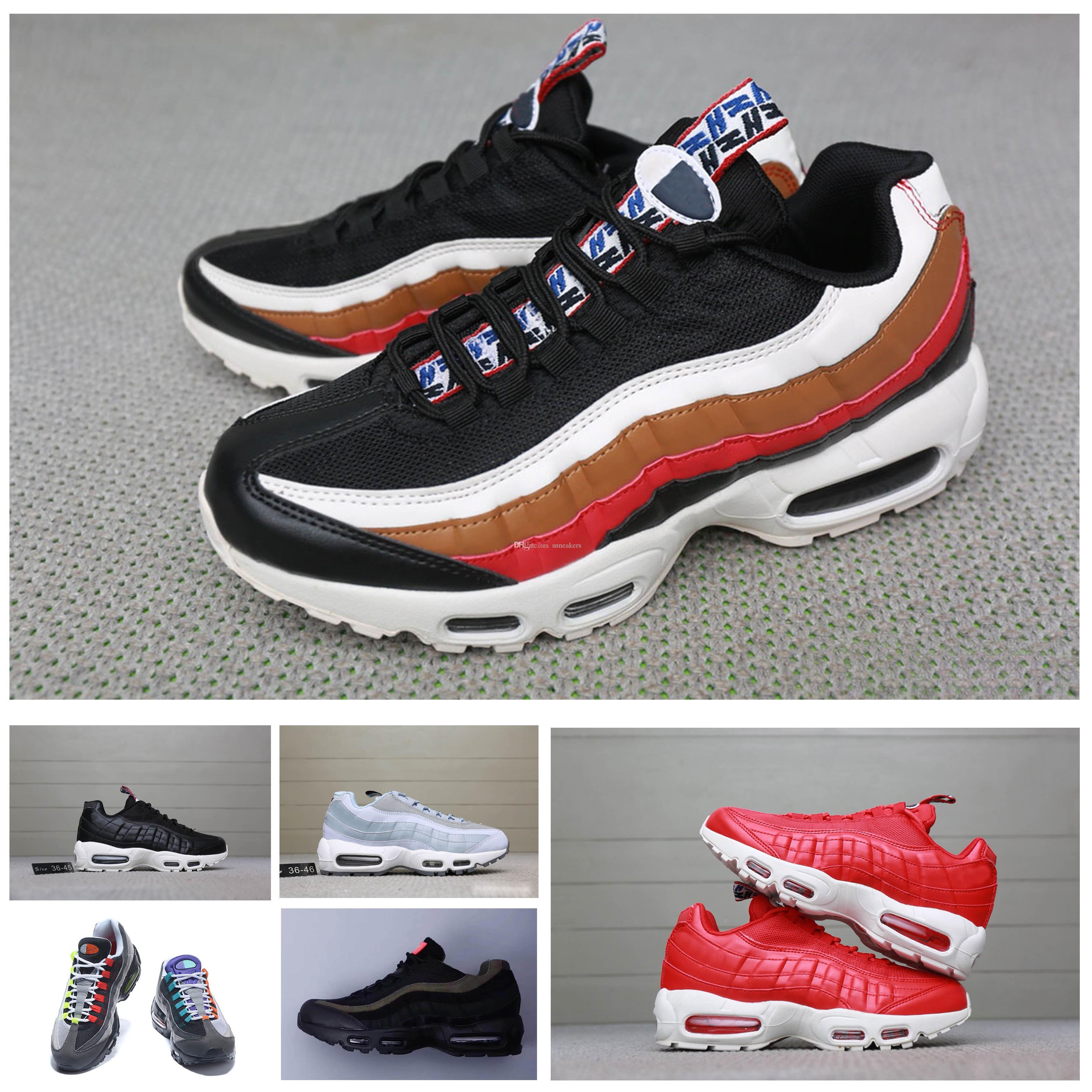the best attitude f3586 a4e3c Compre Nike Air Max 95 Mens Shoes Diseñador Al Por Mayor De Los Hombres  Airs Cushion 95 OG Zapatillas De Deporte Auténticos 95s New Walking  Discount Marca ...
