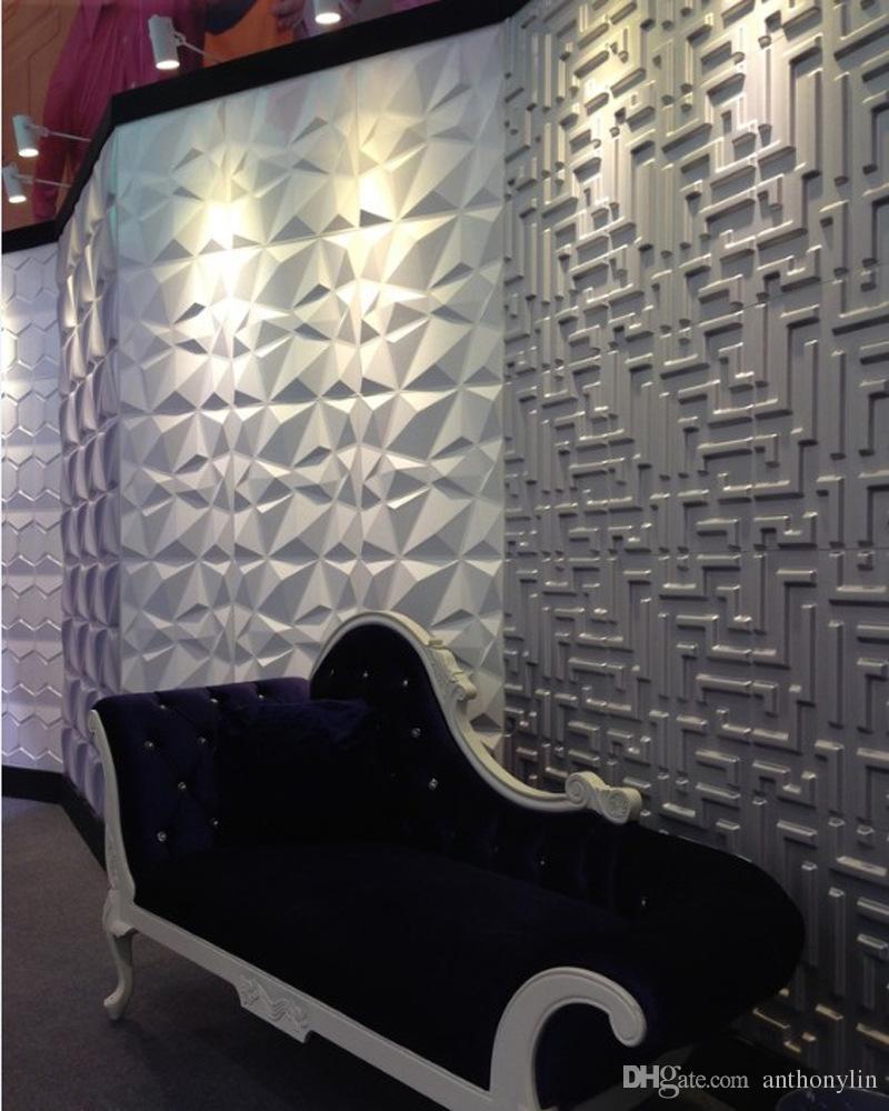 2018 nova chegada oem cor 3d adesivo de parede 3d pvc painel de parede decorativo à prova d 'água placa parede diy arte papel de parede para casa deco