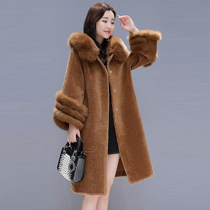 08efc0035ac 2019 Fashion 2018 Winter Women Faux Elegant Female Warm Long Solid Plus Size  Hooded Collar Fake Fur Coat Party C18110901 From Linmei0005