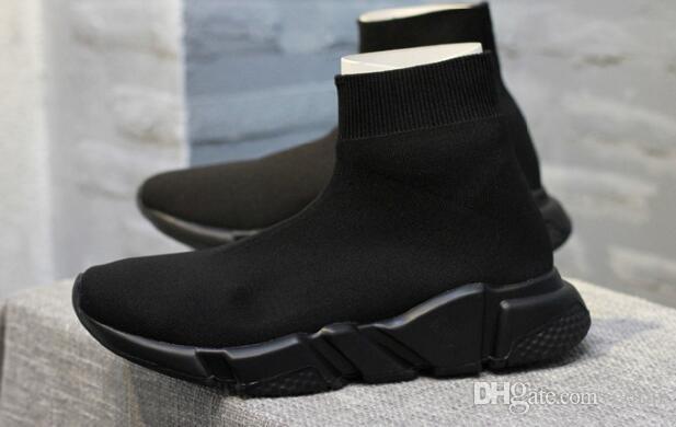 6fa4c2dad85 Compre 2017 Nuevos Calcetines Negros Botines Deportivos Zapatos De  Entrenamiento Zapatillas De Deporte Zapatos