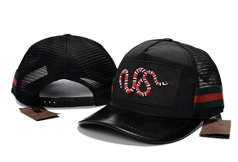 7037c7a34f4 New Embroidery Baseball Caps Men Women Summer Mesh Golf Cap Snake ...