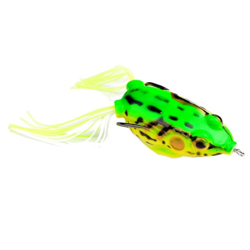 Grenouille à rayons en caoutchouc doux et appâts à tête de serpent 13.5g 5.5cm 3D Eyes popper Blackfish Crankbait