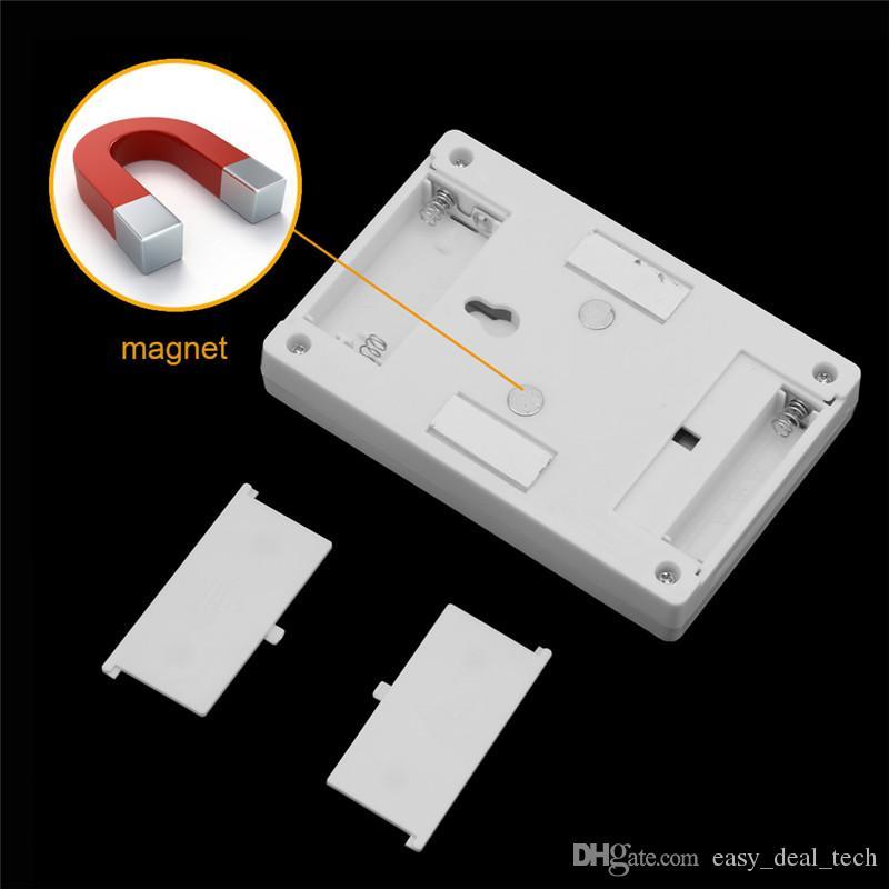 마그네틱 미니 COB LED 무선 램프 벽 밤 조명 슬라이더 스위치와 함께 배터리 작동 주방 캐비닛 캠프 비상 조명 Q0402