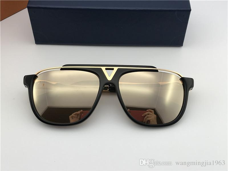25a0395b42 Popular Fashion Men Vintage Designer Sunglasses MASCOT Square 18k Gold  Metal Combination Frame Top Quality Anti UV400 Lens And Blue Box 0936  Glasses Online ...