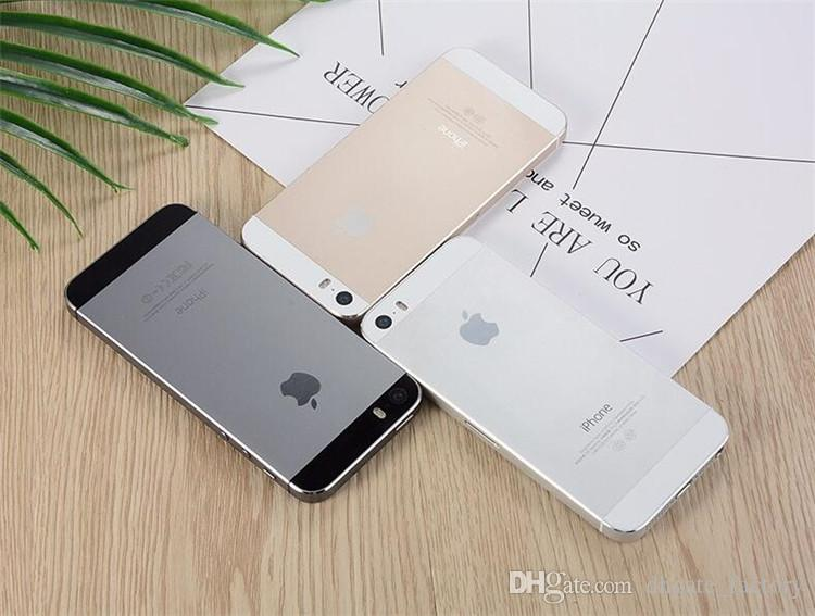 Unlocked Refurbished Cell Phones Iphone 5s IOS 11 Apple iPhone 5S A7  16G/32G/64G With FingerPrint/Touch ID DHL Free