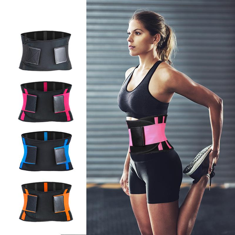 9fe05b6c7d 2019 Adjustable Waist Back Support Waist Trainer Trimmer Belt Sweat Utility  Belt For Sport Gym Fitness Weightlifting Tummy Slim Belts From  Qingteawater
