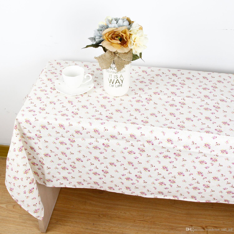Nappe De Jardin En Coton Rectangulaire Style De Jardin Vintage Rectangle Diner Pique Nique Table Cloth Decoration De La Maison