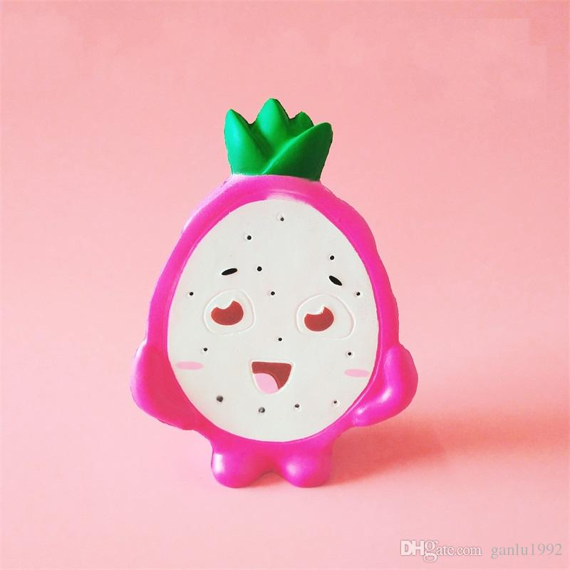 Squishy Pitaya Decompression Toys Kawaii Simulation Fruits Squishies Soft Slow Rising Squeeze Toy Children Gifts 9ck C R