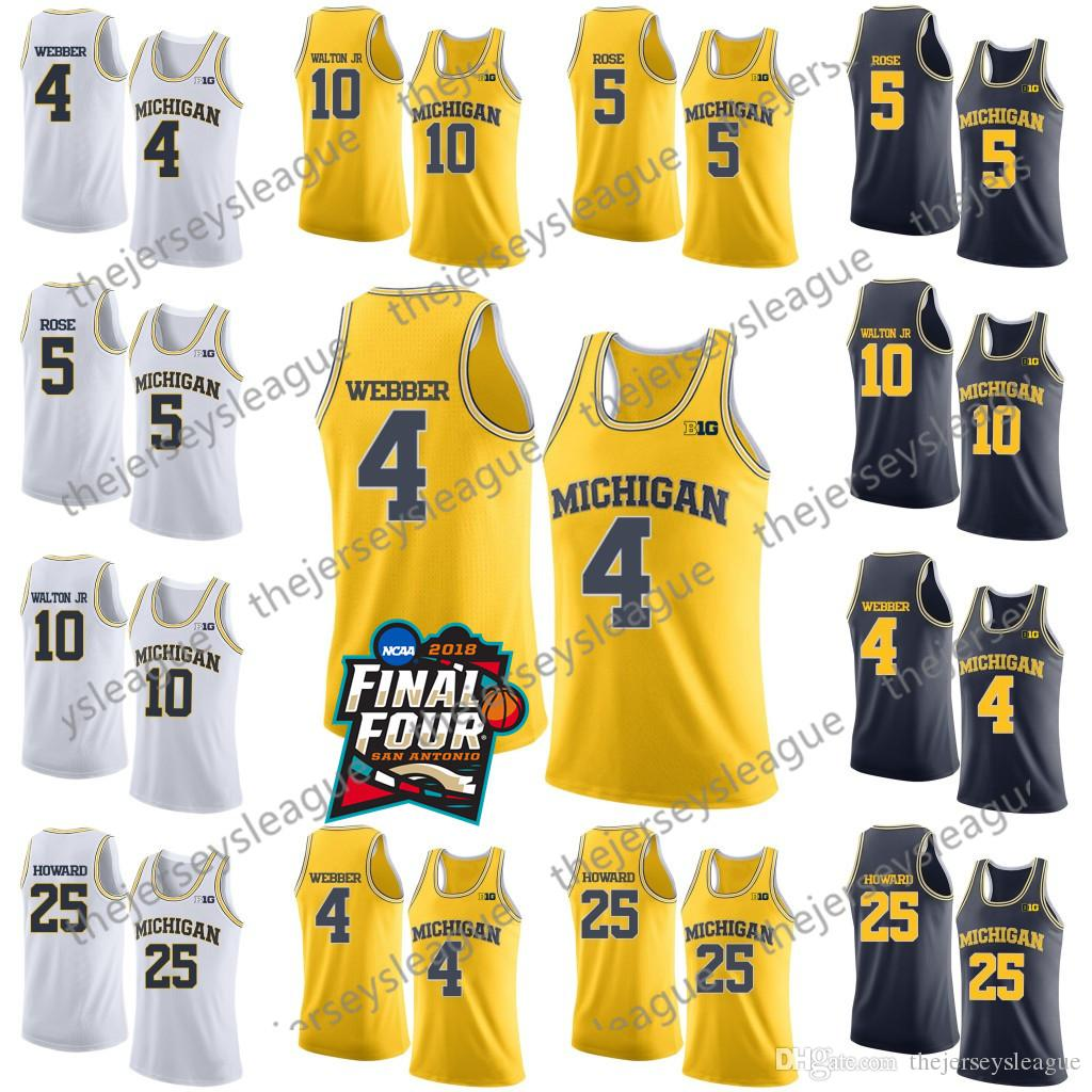 11c85521c shop ncaa michigan wolverines 4 chris webber 5 jalen rose 10 tim hardaway  jr. 25
