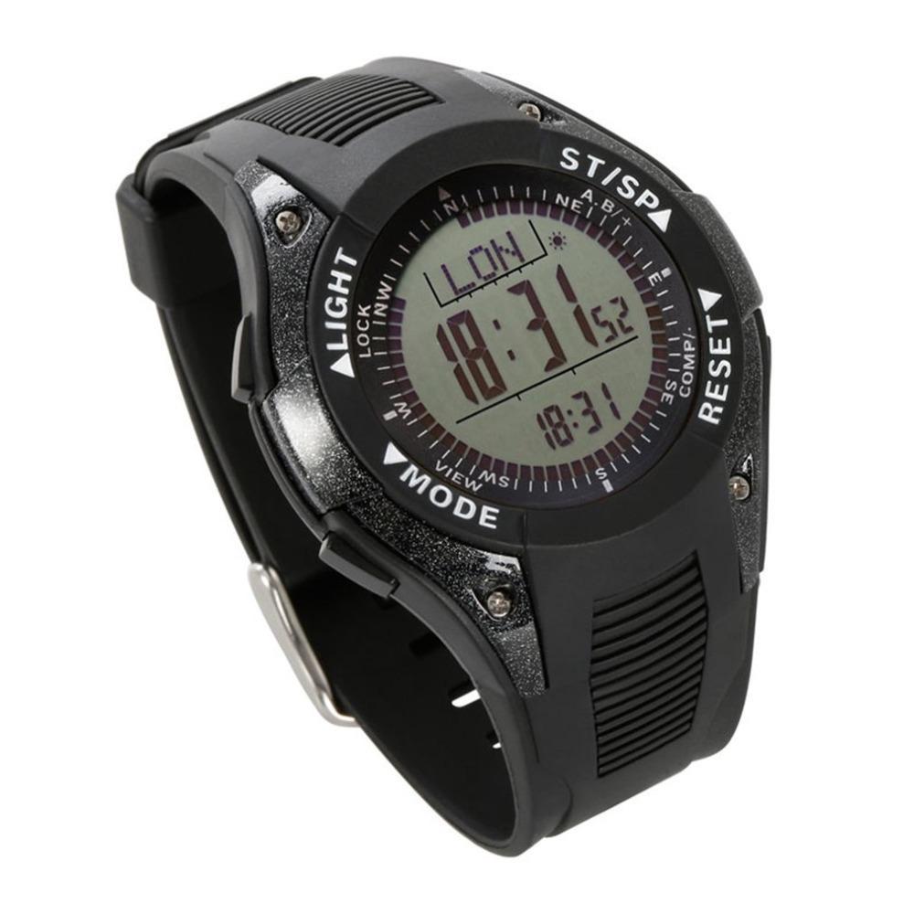 b04539c59d16 Reloj De Pulsera SUNROAD Caliente Impermeable Retroiluminado Multifuncional Hombres  Mujer Pesca Deportiva Al Aire Libre Reloj Digital Cronómetro Podómetro ...