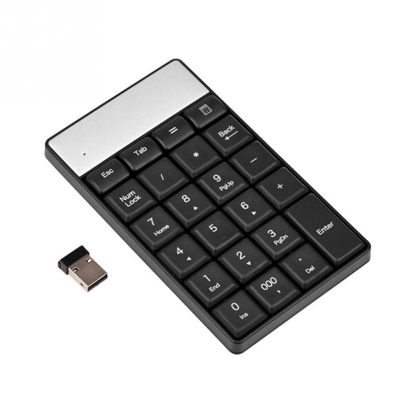 2.4G Wireless Keyboard USB Numeric Keypad 18Keys Mini Digital Keyboard Ultra Slim Number Pad