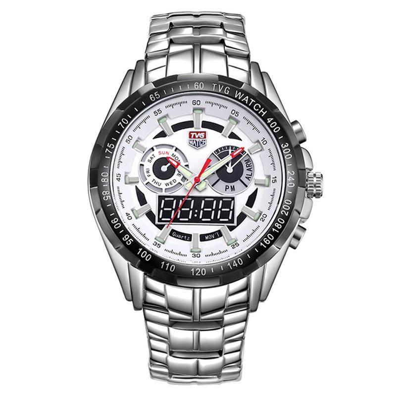 b26cc9b0eae Compre TVG 579 Marca De Luxo Relógio De Quartzo Homens Esporte À Prova D  Água LED Digital Relógios Analógicos Militar Relógio De Pulso Relógio Homem  Relogio ...