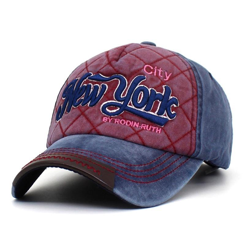 a59bef4cde4 Washed 100% Cotton Baseball Cap Hat For Men Women Vintage Dad Hats NEW YORK  Embroidery Letter Snapback Cap Outdoor Casual Hats Cap Shop Flexfit Caps  From ...