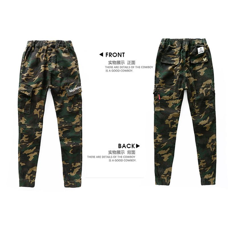 Fashion Cotton Children Cargo Pants Baby Boys Camouflage Trousers Kids Child Casual Pants Blue Green Army Camouflage Harem Pants