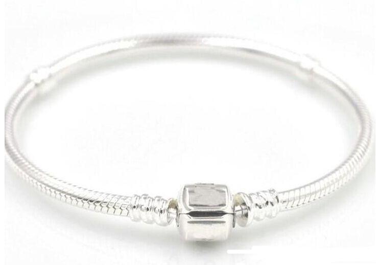 925 Sterling silver Bracelets 17cm-23cm Logo With Crown For Pandora Clasp Style Bracelet DIY Jewelry component