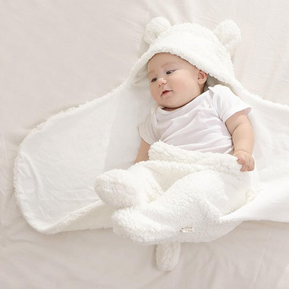 Muqgew winter baby blanket 2018 newborn infant baby boy girl swaddle sleeping wrap blanket photography prop baby blankets cotton baby blanket green from
