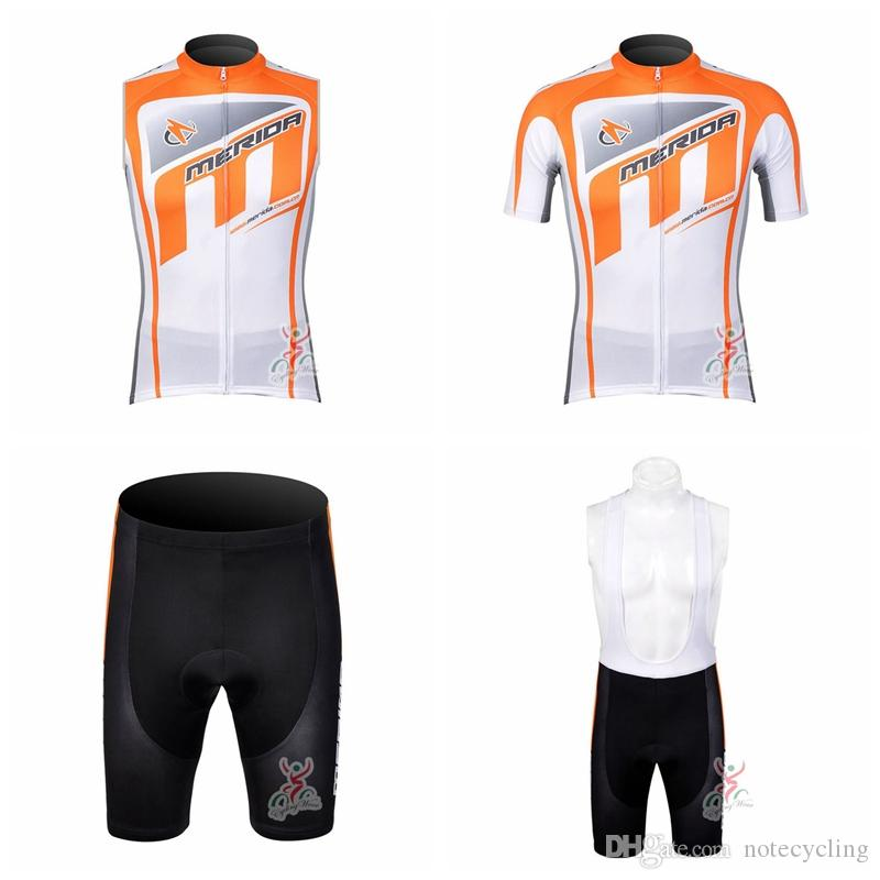 MERIDA Cycling Short Sleeves Jersey Bib Shorts Sleeveless Vest Sets Hot Bike  Clothing Mountain Bike Wear Ropa Ciclismo Comfort A41623 Cycle Clothing Sale  ... ce6297afe
