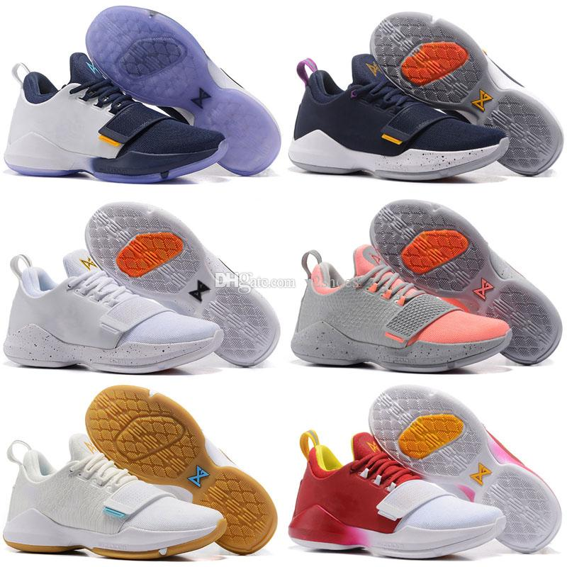 eae641ca2a77 New Arrival Paul George PG1 2017 Ferocity Glacier Grey Shining Black And  White Flowers Men S Basketball Shoes PG 1 Sneaker Sports Shoes Discount  Shoes ...