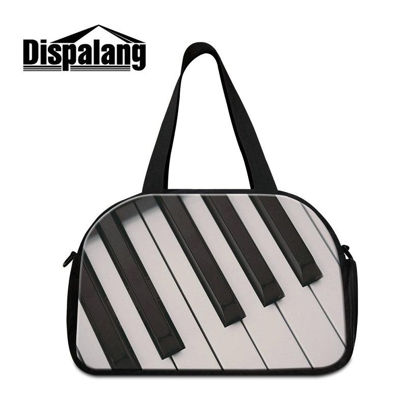 2f3deaabf95b Sport Gym Messenger Bag For Teenagers Piano Pattern Duffle Bags ...